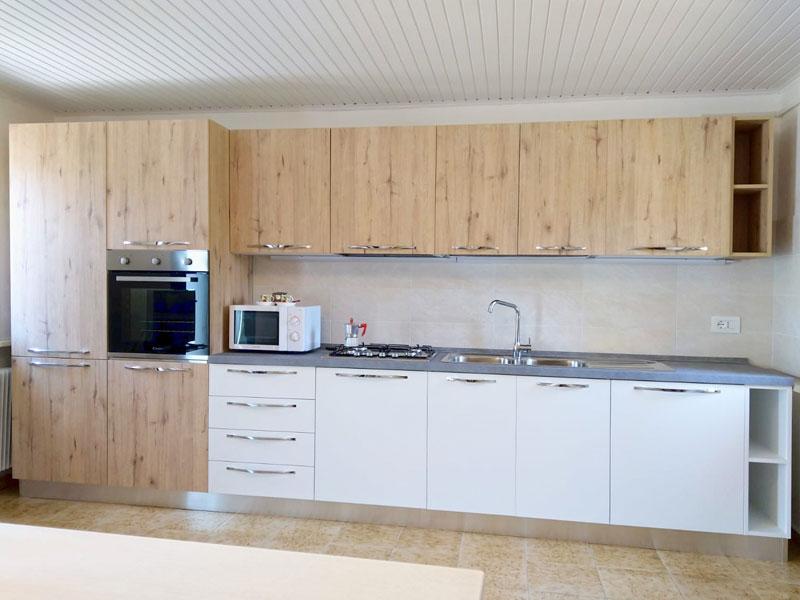 Cucina Bianco Opaco montata a Cordenons